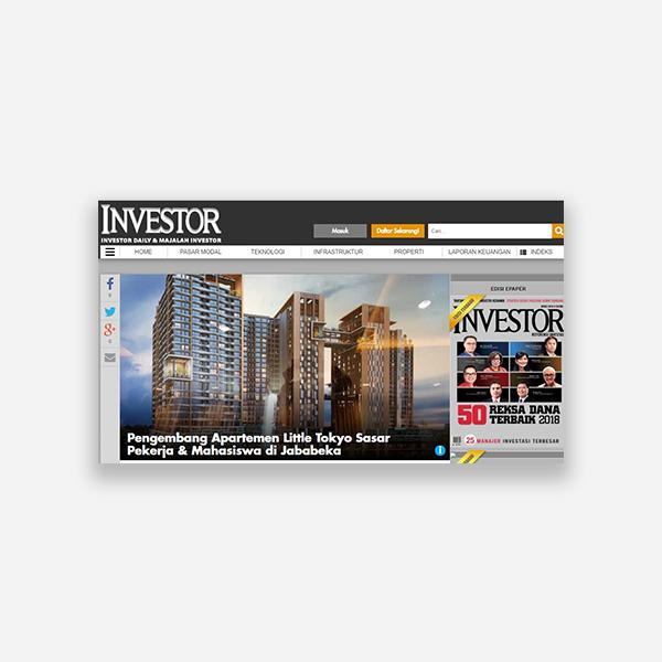 Investor.id - Pengembang Apartemen Little Tokyo Sasar Pekerja & Mahasiswa di Jababeka