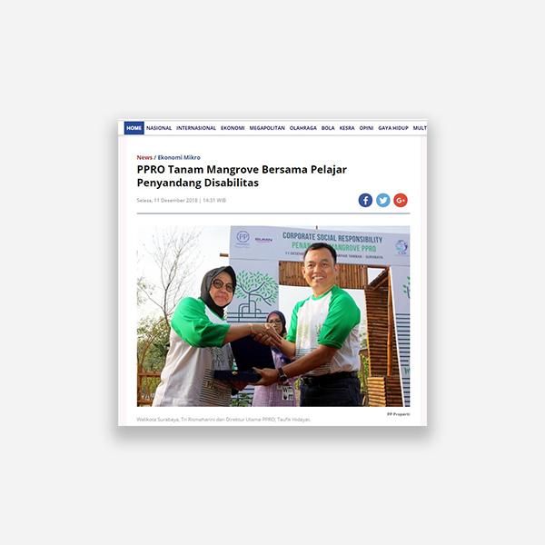 Rakyat Merdeka - PPRO Tanam Mangrove Bersama Pelajar Penyandang