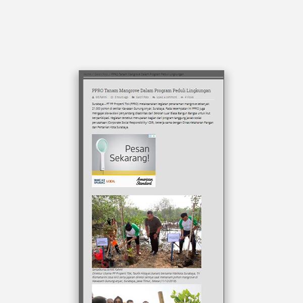 Lantaibursa.co.id - PPRO Tanam Mangrove Dalam Program Peduli Lingkungan