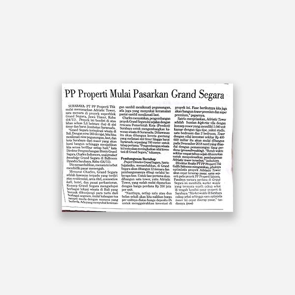 Kontant - PP Properti andalkan Penjualan Borongan