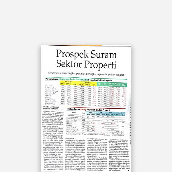 kontan - Prospek Suram Sektor Properti