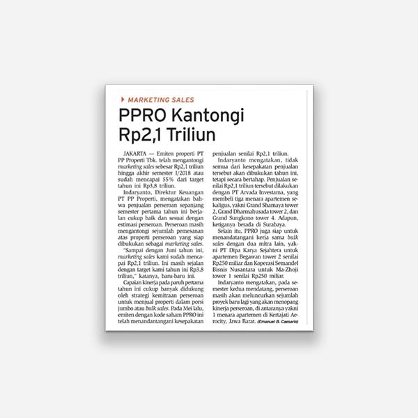 Bisnis Indonesia - PPRO Kantongi Rp 2,1 Triliun