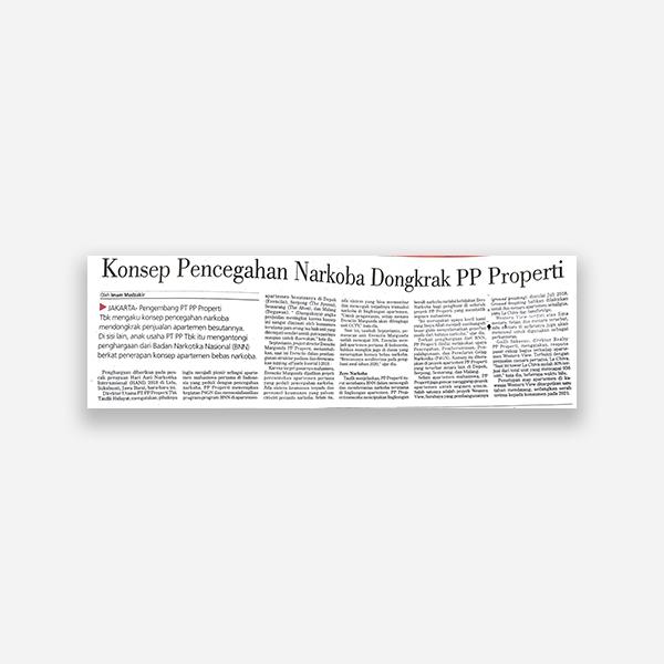 Investor Daily - Konsep Pencegahan Narkoba Dongkrak PP Properti