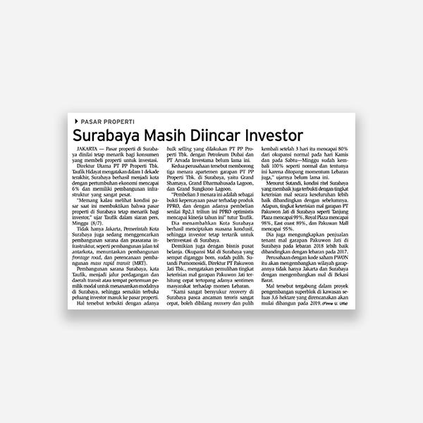 Bisnis Indonesia - Surabaya Masih Diincar Investor