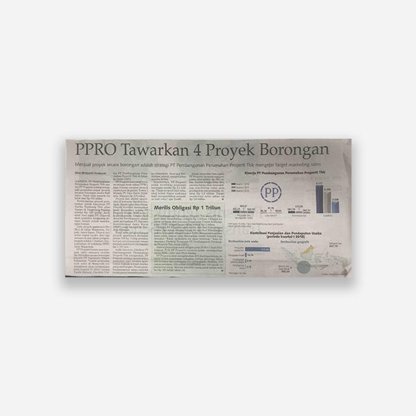 Kontan - PPRO Tawarkan 4 Proyek Borongan