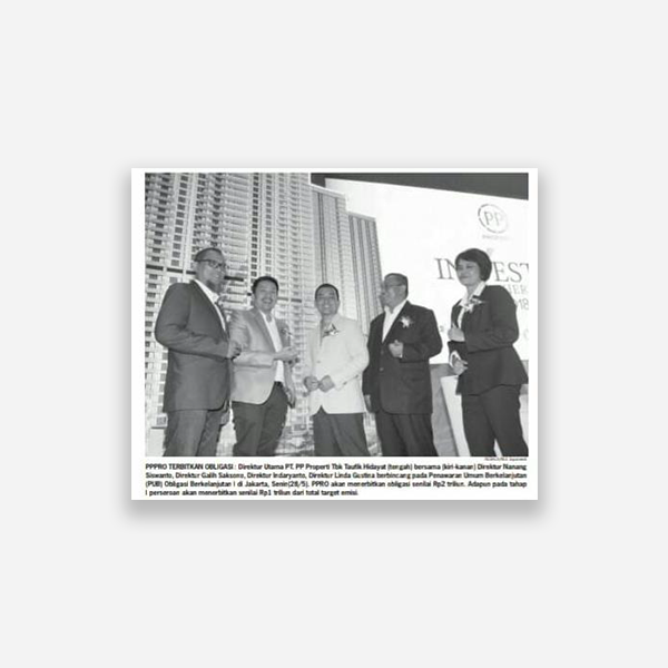 Neraca - PPRO Terbitkan Obligasi